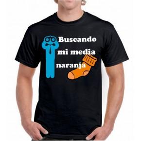 Camiseta buscando mi media naranja