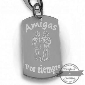 """Llavero personalizado """" Amigas por siempre"""""""