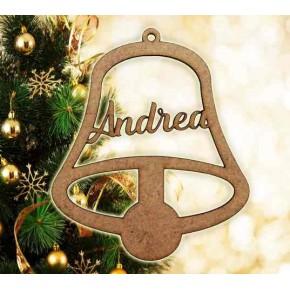 Campana decoración navidad con nombre