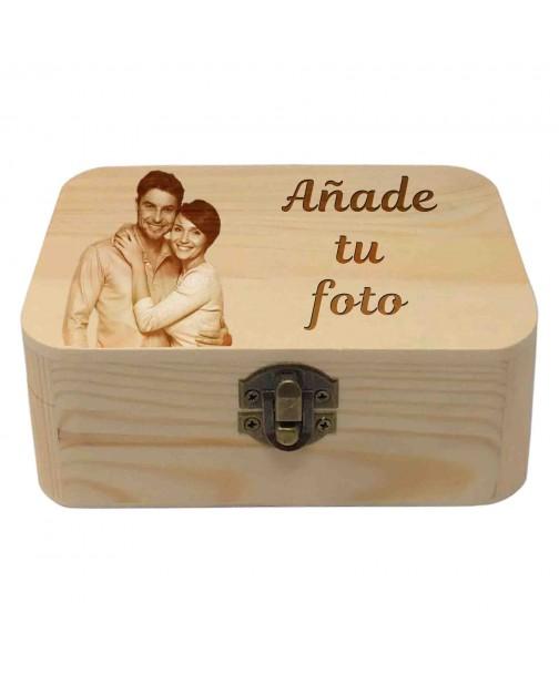 Caja madera con foto