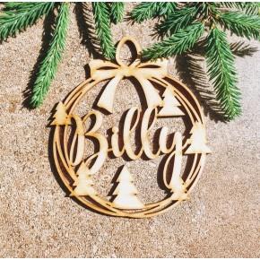 Esfera Arbol navidad con nombre personalizado