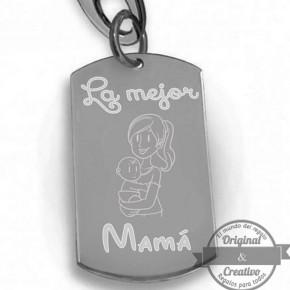 Llavero personalizado la mejor mama