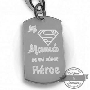 llavero mama eres mi super heroe