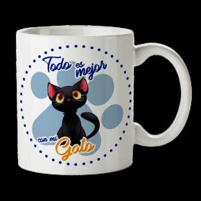 Taza Gato  Personalizada...