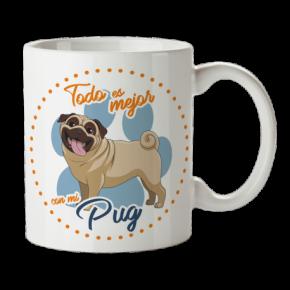 Taza Pug Personalizada con...
