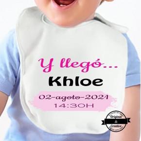 Babero Y llegó chico/a