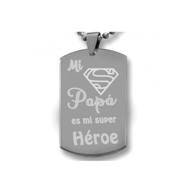 colgante mi papa es mi super heroe