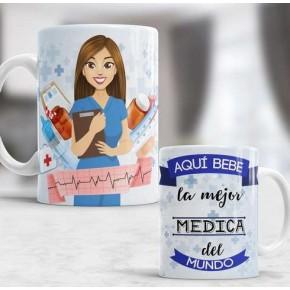 Aqui bebe la mejor médica...