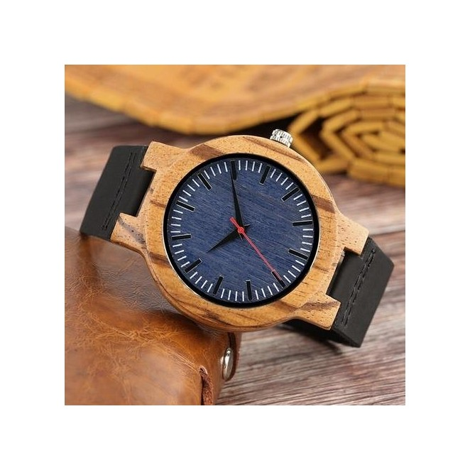 reloj pulsera de hombre hecho en madera